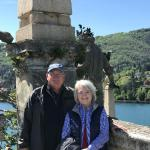 Richard and Gail on Isola Bella.