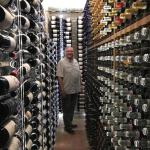 Richard checks out the amazing wine cellar at Tota Virginia.