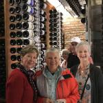 The ladies enjoy our wine cellar tour.