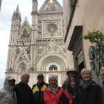 A cold and wet group in Orvieto.