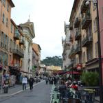 Streets of the Old Town in Nice, France.