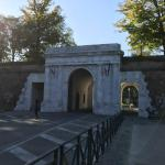 Porte Elise into the walled city of Lucca.