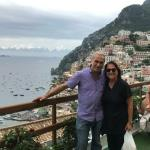 I get a special shot of Positano with Valentino.