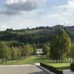 The beautiful setting of the American Military Cemetery near Florence.