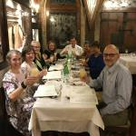 Our farewell dinner in Venice.