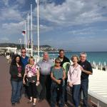 The beautiful French Riviera city of Nice with the France/Italy Adventure tour group.
